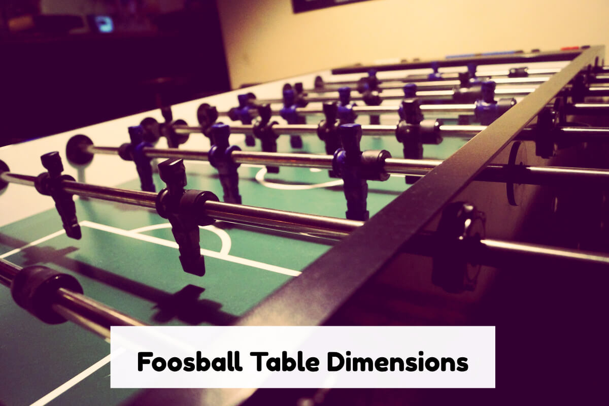 Foosball Table Dimensions 4 Different Sizes In 2019