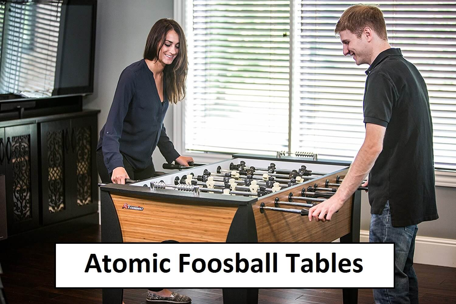 Atomic foosball tables