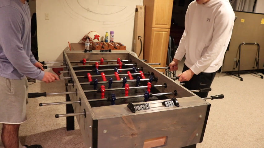 Homemade foosball table